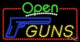 Guns Open LED Sign (High Impact, Energy Efficient)