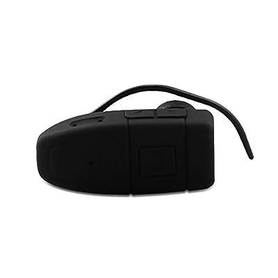 SpyGear-icemoon Hidden Camera Bluetooth Earphone Home Security Camera Wearable Nanny Spy Cameras Loop Video Recorder (Black) - icemoon