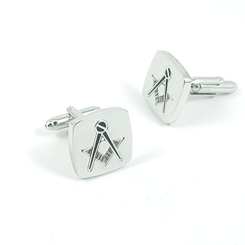 50 Pairs Cufflinks Cuff Links Fashion Mens Boys Jewelry Wedding Party Favors Gift UAT003 Masonic Symbol by Fulllove Jewelry