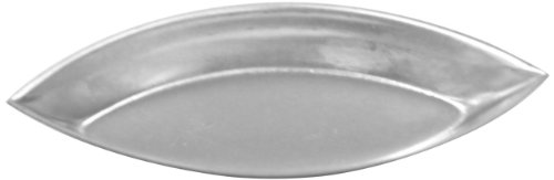 Allied Metal BAR4060 Plain Barquette Oval Boat Baking Mold, Heavy Tin, 4-1/3 by 1-3/4 by 1/2-Inch (Mold Barquette)