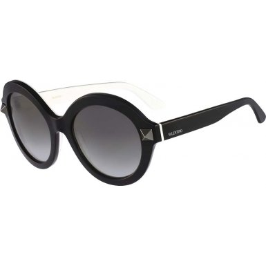 Valentino Metal Sunglasses (Valentino Valentino Women's Sunglasses V696s, black, 54)
