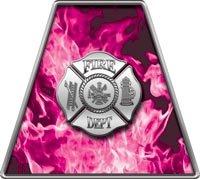 Pink Fire Helmets (Inferno Pink Reflective Maltese Cross Firefighter Fire Helmet Tetrahedrons - Set of)