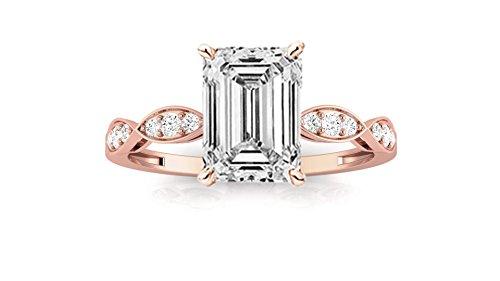 0.89 Ct Emerald Cut Diamond - 2