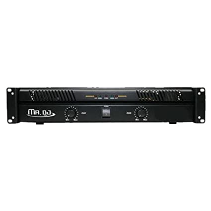 Mr. Dj AMP5800 2 Channel Professional Power Amplifier with 5800 Watts Maximum Power