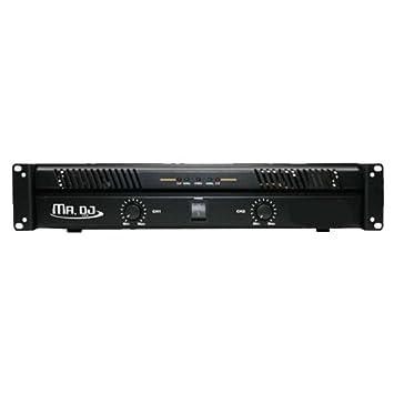 Mr. DJ amp5800 2 Canal Amplificador de potencia profesional con 5800 W Potencia máxima