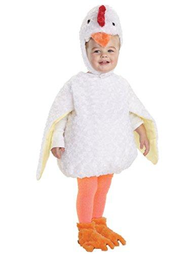 Chicken Costumes Baby (Underwraps Baby's Chicken Belly-Babies, White, Large)