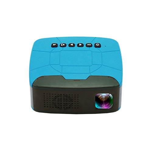 Mini Micro LCD Video Portable Projector,Remote U20 Pocket HD USB HDMI Video Projector Home Cinema HD LED Theater Projector (Blue)