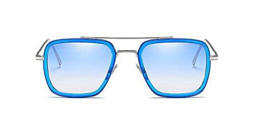 du en Soleil la Style Cercle et Sous le Pour Hommes Poudre Sur Lunettes Rond Inspirées Steampunk Bleu Retro de Métallique Femmes Polarisées z8cgqAIf