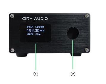 PCM1794 A decodificador suave Control AK4118 recibir SPDIF coaxial cable de AES a analógica 24bit 192