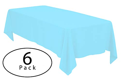 Minel Disposable Party Table Cloths Rectangular 6 Pack Light Blue by Minel
