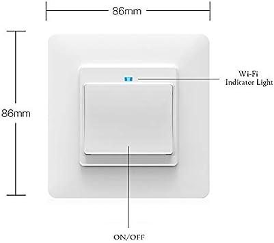 WiFi Smart Push Button 1 Interruptor de pandillas Desmontable libremente Desmontable de la placa de pared Smart Home Automation Smart Life Tuya App Control remoto Trabajar con  Alexa Google Home