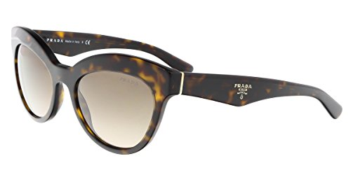 Prada PR23QS 2AU3D0 Tortoise Triangle Cats Eyes Sunglasses Lens Category 2 - Tortoise Prada Sunglasses Cat Eye