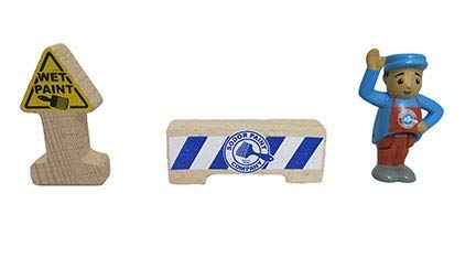 フィッシャープライス きかんしゃトーマス & フレンズ 木製 5-in-1 ビルダーセット - 交換用農家と看板 B07H7VC43Y