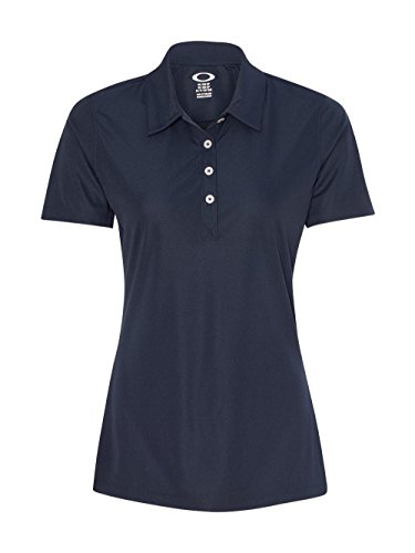 Oakley Women's Basic Polo, Navy Blue, X-Large (Interlock Embroidered)