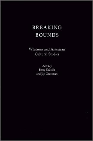 Book Breaking Bounds: Whitman and American Cultural Studies