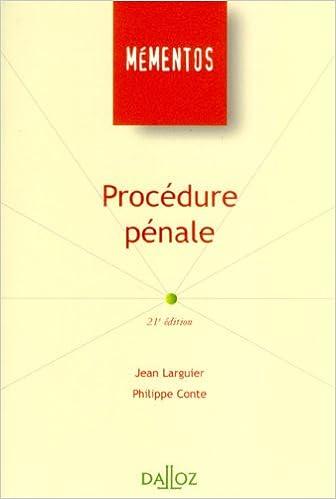 En ligne téléchargement gratuit Procédure pénale : Edition 2006 pdf, epub ebook