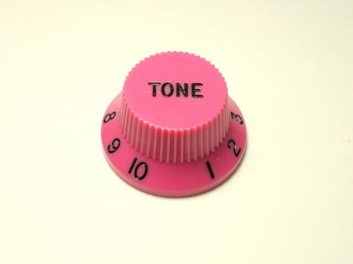 MIJ Colored Tone Knobs for Stratocaster inch (Pink)
