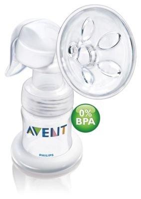 Philips Avent Hand- Milchpumpe / Mit aktivem Massagekissen / 0% BPA/+1 Muttermilchbehälter 125ml+1 Airflex- Sauger