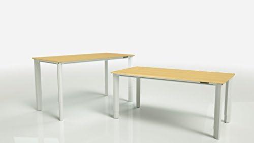 Vivistand Quattro - Mesa de escritorio con 4 patas (marco blanco ...