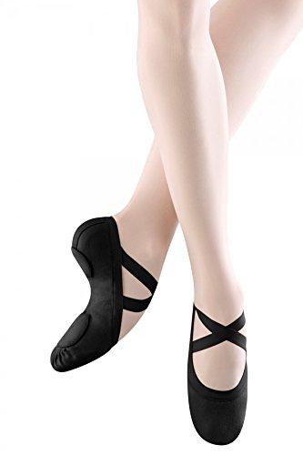 Bloch Dance Men's Synchrony Split Sole Stretch Canvas Ballet Slipper/Shoe, Black, 10 D US (Mens Ballet Shoes)