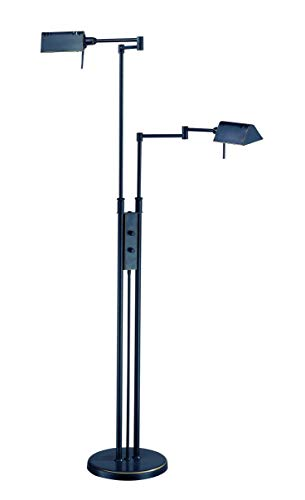 Lite Source LS-974D/BRZ Pharma Collection Floor Lamp with Metal Shade, 37.5