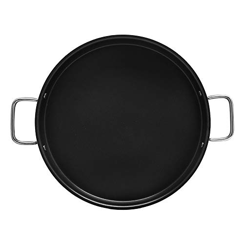 Aluminum 15 Inch x 1-1/2 Inch Non-Stick Spanish Paella Pan Grill Comal Griddle Pan Tray Cook