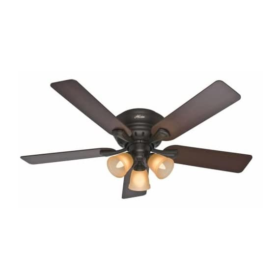 Hunter 4 WhisperWind motor delivers ultra-powerful air movement with whisper-quiet performance so you get the cooling power you want without the noise you don't Reversible motor allows you to change the direction of your fan from downdraft mode during the summer to updraft mode during the winter 5 Brazilian Cherry / Dark Walnut Reversible blades included