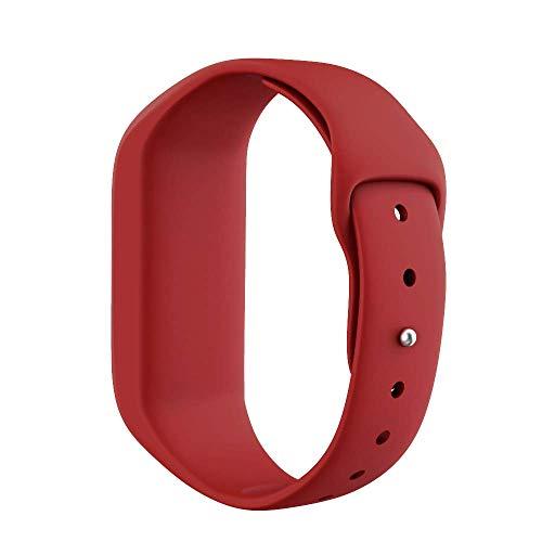 ANCOOL Compatible with Vivofit JR Bands Soft Silicone Wristbands Replacement for Vivofit 3/Vivofit JR/Vivofit JR2 Tracker, Red
