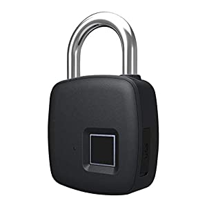 3181NpKdLqL. SS300 Bbl345dLlo - Lucchetto per impronte digitali, impermeabile, antifurto, senza chiave, per valigia e porta