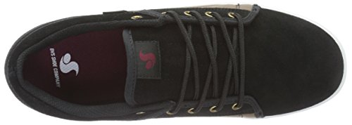 Black Chaussures Skateboard Mixte Suede Adulte Shoes Noir Schwarz Taille DVS de Brown Aversa Unique RwBaPF