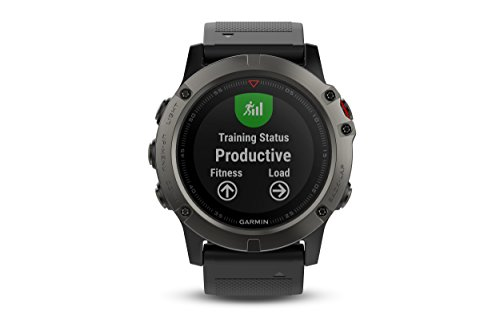 Garmin Fenix 5X Sapphire - Slate Gray with Black Band by Garmin