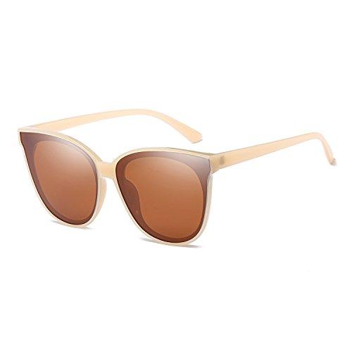 Polarized Oversized Frame 100%UV Protection Fashion Cateye Style Sunglasses Eyewear for Women (Nude, - Beige Sunglasses