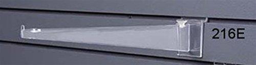 - Acrylic Plastic 14 Inch Shelf Bracket Slatwall Display Fixture Lot of 24 NEW
