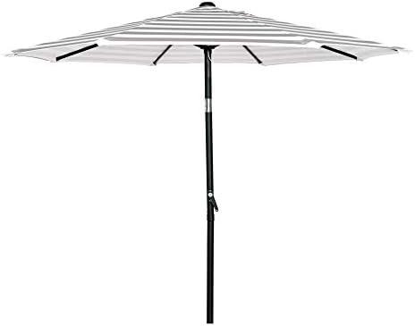 HERMO 758S Roun 7.5 Ft Outdoor Patio 8 Ribs Market Table Umbrella, Beige