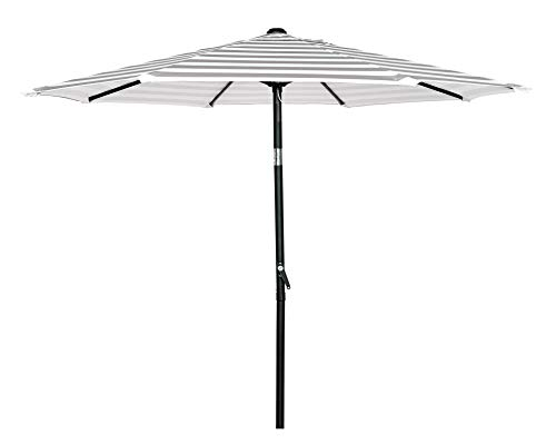 HERMO 758S Roun 7.5 Ft Outdoor Patio 8 Ribs Market Table Umbrella, Beige