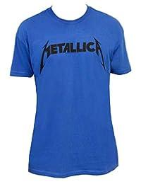 Beavis & Butthead Metallica Logo Adult Blue T-shirt