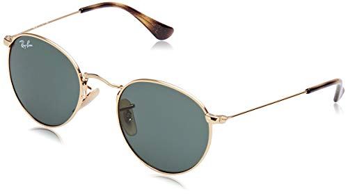 Ray-Ban Junior Kids' Metal Unisex Sunglass Round, Gold, 44 mm (New Wayfarer Junior)