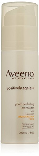 (2 Pack)-Aveeno Active Naturals Positively Ageless Youth Perfecting Moisturizer, SPF 30, 2.5 Ounce each ()