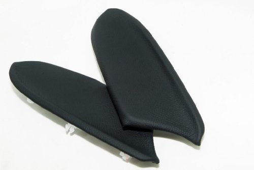 Honda Accord Real Leather Front Door Panels Armrest Covers Black (Leather Part Only)