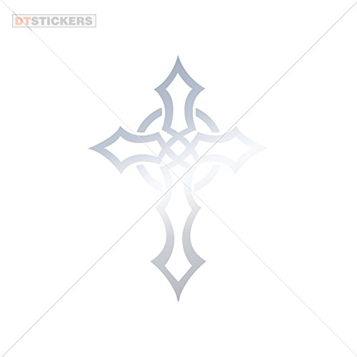 Chrome Celtic Cross - Decoration Vinyl Stickers Celtic Cross Decoration vinyl (3 X 2,19 In. ) Metallic Chrome Mirror