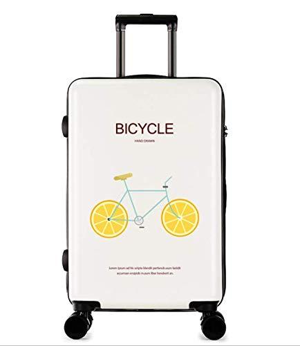 24インチ新しいファッショントロリーケースユニセックススーツケースユニバーサルホイール荷物スーツケース (Color : ホワイト)   B07MQR2B5D