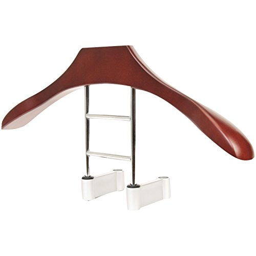 Maxsa 20022 Car Butler Headrest Coat Hanger, Solid Wood & Metal