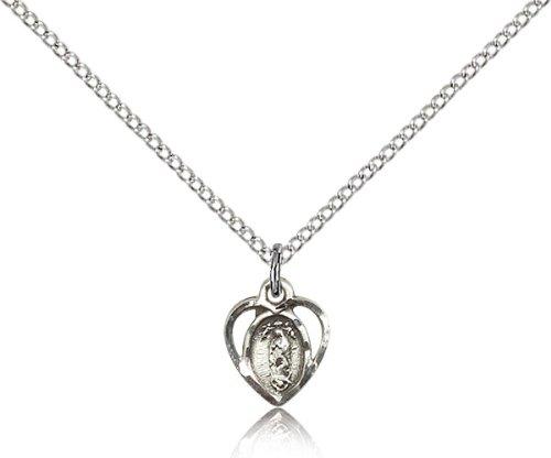 Sterling Silver O//L of La Salette Pendant