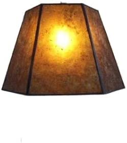 Upgradelights Amber Mica 12 Inch Hex Washer Fitter Lampshade 7x12x8