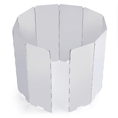 OUTAD 10 Stücke Outdoor-Aluminium-Windschutz für Alle Arten von Feuerstellen BBQ Windschutzscheibe