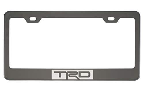 TRD Black Chrome License Plate Frame (Zinc)
