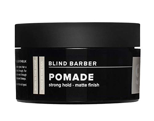 Blind Barber 90 Proof Pomade - Strong Hold, Light Texture Matte Hair Pomade for Men, Water Based Pomade with Hops & Tonka Bean (2.5oz / 70g) (Best Product For Undercut)