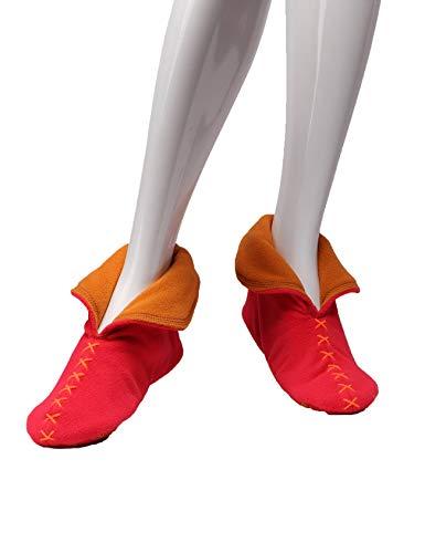 Femme Rouge orange L188h01 Chaussons Pour Raikou qwxZ0t0