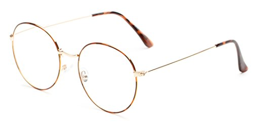 Readers.com The Teddy +1.75 Tortoise/Gold Trendy Retro Metal Round Reading Glasses