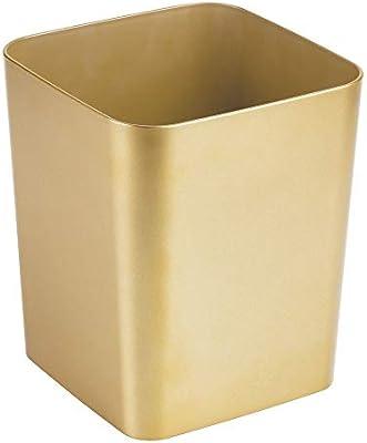 mDesign Mülleimer Bad – quadratischer Kosmetikeimer im eleganten Design –  Abfalleimer aus Kunststoff – stabiler Abfallsammler auch für die Küche – ...